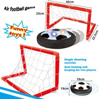 Wholesale Sport toy indoor game air football game soccer play set funny toy mini football ground battery operated toys kids sport gift for boys