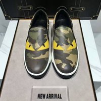 b eyes - 2016 the hottest latest camouflage little monsters Yellow eyes Hot men slip on shoes Convenient and comfortable non slip Luxury brands Free