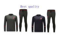Wholesale Best quality survetement football AC Milan training AC Milan soccer tracksuits with AC Milan sweatshirts top pan