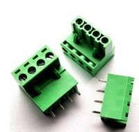 Wholesale KF2EDGK mm Pin binding post terminals blocks connectors A set of plug and socket curved needle