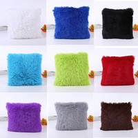 Wholesale Soft Plush Square Pillow Case Sofa Waist Throw Cushion Cover Home Decoration Colors For Choosing
