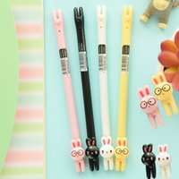 Wholesale Cute rabbit gel pen0 mm black ink signature pens Stationery Office school supplies Canetas Escolar Papelaria