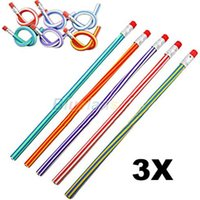Wholesale Colorful Magic Flexible Bendy Soft Pencil for Kids Student School Office Use KO O3R CJV
