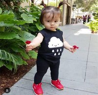 Wholesale baby clothing kids fashion coveralls summer sleeveless pants jumper boy girl jumpers clothes colud rain infant cm