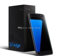 Tv Baratos-S7 EDGE pantalla curvada MTK6580 quad core 1GB / 4GB Metal versión teléfonos celulares Android falsa 4G LTE Smartphone teléfonos móviles DHL Free