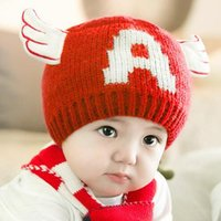 angels knit hat - 2016 lovely angel Ears Winter Crochet Knit Hats infant Cap Christmas gift children boy girl kid s cap years old Hot Selling