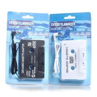 Wholesale Car Cassette Adaptor Disc Tape Digital Audio Tape player for car For iPod MP3 CD Player With mm Input Jack