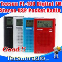 Wholesale Retail Tecsun PL Digital FM Stereo DSP Pocket Radio pl100
