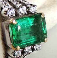 Bohemian angelina jolie wedding - 4 ctw colombia emerald k white gold diamond ring angelina jolie style