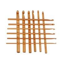 big knitting needles - Big Sale Sweater knitting Circular Bamboo Handle Crochet Hooks Smooth Weave Craft Needle Sizes