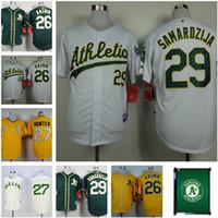 Wholesale Hot sale Oakland Athletics baseball jersey Hunter Scott Kazmir Jeff Samardzija Color yellow green White MLB Jerseys