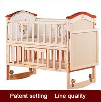 Wholesale Wood crib no paint green multifunctional children bed large storage station