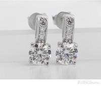 Wholesale 925 Sterling Silver Stud Earrings for Women Jewelry Fasihon Earrings CZ Diamond Earrings Neutral style N44