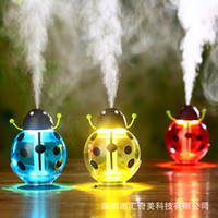 Warm Mist Humidifier beetles types - Beetles Mini Humidifiers Creative Usb Air Purifier LED Night Light Atomizer Mute Radiation AC Appliances Degree Rotation hq