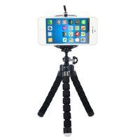 Wholesale Mini Portable Flexible Sponge Octopus Tripod Bracket Stand Mount Monopod Phone Holder For Mobile Phone for Samsung Camer