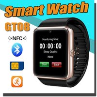 Wholesale GT08 Bluetooth Smart Watch With SIM Card Slot and NFC Health Watchs For Android Samsung And iPhone Smartphone Bracelet Smartwatch