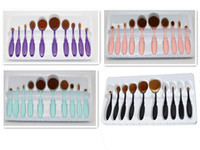 Wholesale Professional Makeup brush Oval Toothbrush Women Foundation Eye Shadow Blusher Soft Shape Curve Brushes Foundation Cosmetic Tools DHL