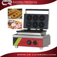 Wholesale High quality bakery equipment stainless steel electric v manual mini donut machines to make donuts CR DN6B