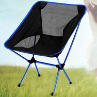 Wholesale Dark Blue Ultra Light Folding Chair Chair Outdoor Camping Seat Picnic Beach Fishing Portable H195