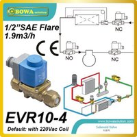 air pump solenoid - 1 quot SAE flare m3 h brass solenoid valve for heat pump air conditioner replace Sporlan solenoid valves