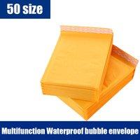 Sobres de papel de Kraft al por mayor-Amarillo Empaquetado de envoltorios de burbujas Bolso de sobres acolchados 10pcs / lots