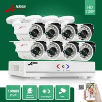 al por mayor hd dvr cámara de 8 canales-ANRAN 8CH HDMI HD AHD DVR Kit 8pcs 1800TVL 720P impermeable al aire libre 24 IR día de la noche de video CCTV cámara de sistema de seguridad para el hogar