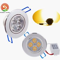 Wholesale AC V V V Dimmable W Led Downlight Recessed Ceiling Lamp Pure Warm White Led Fixture Down Light CE ROHS DHL