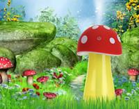 achat en gros de champignon purificateur d'air-2016 Nouveau Mini Home vapeur LED humidificateur à ultrasons DC 5V Mushroom Mist Maker Air Diffuseur Purificateur Atomiseur free shiping