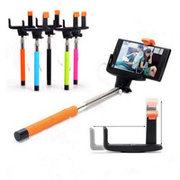 Wholesale Zo7 Monopod with Phone Holder and bluetooth Remote Shutter Compatible with IOS and Android Extendable Handheld wired monopod groove USB