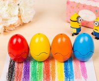 Wholesale Crayon lab Color Egg Crayon Set Eatable Crayon Fun Painting Toys Wax Crayon Non toxic Eraseable