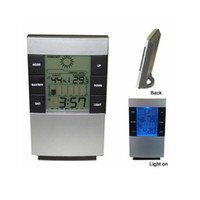 Wholesale Household All In One Digital LED Thermometer Digital Day Date Alarm Clock Digital Thermometer and Digital Hygrometer