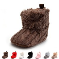 animal print fabric for kids - 2017 Winter Warm First Walkers Baby Ankle Snow Boots Infant Crochet Knit Fleece kids Shoes For Boys Girls