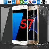 2017 El mejor regalo del navidad El teléfono a estrenar S7 abrió Smartphone MTK6592 Octa Núcleo 4G RAM 64GB Almacenaje 12MP Logotipo original Caso libre agrega la película