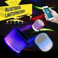 Wholesale Zeepin Portable Mini A9 LED Night Light Wireless Bluetooth Speaker Support TF USB FM Radio Headphone Mic Subwoofer Loudspeaker