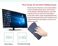 Wholesale The New Wireless Keyboard T6 Mini Air Mouse Ghz Gyroscope Remote Control Combo for Android TV Box Media Player PC
