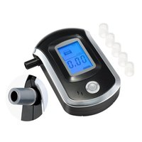 alcohol sensors - Mini Professional Breathalyzer with Semi conductor Sensor and LCD Display Digital Breath Alcohol Tester with Mouthpieces