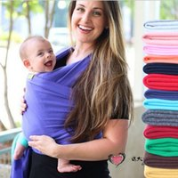 baby carrier sale - Hot sale Cheap mo by wrap high quality Baby Carrier Fashion colours Elasticity belt Cotton Baby Carrier Baby bag Fast shipping