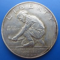 Wholesale American Coins California Jubilee Commemorative Half Dollars Copy Coins High Quality old style Copy coin