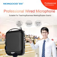 Wholesale 2017 Professional Portable Waistband Wired Headset Voice amplifier booster speaker with Tf Card usb fm Radio And Mic