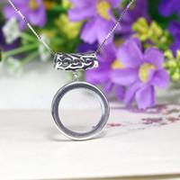 art nouveau - Art Nouveau Unique Sterling Silver Semi Mount Pendant Round Cabochon x19mm Women Fine Jewelry Fashion Antique Pendant