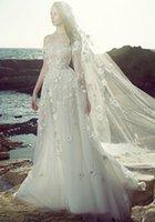 achat en gros de zuhair murad perlée-Robe de mariée de luxe de mariage de mariage