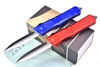 auto end - High End Micro Tech Troodon AUTO Tactical knife D2 HRC Satin Blade T6 Aluminum Handle EDC Pocket knife Gift knives with Nylon bag