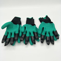 Wholesale Creative Garden Genie Gloves with Claws Quick easy way to Gardening Builders Digging Planting Rubber Polyester
