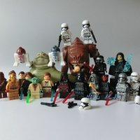 Wholesale 22pcs a set of Sale minifigure star war Darth Vade Obiwan Building Blocks bricks
