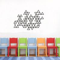 Estrella 2 # Triangle Wallpaper Geometrical Pattern Series Produits Décoration intérieure Stickers muraux Autocollants Simple Fashion Decoration Livraison gratuite