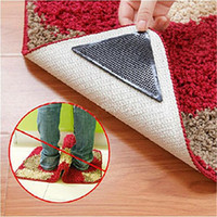 bath grippers - set Rug Carpet Mat Grippers Non Slip Anti skid Reusable Washable Silicone Grip For Home Bath Living Room carpet Accessory