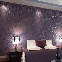 Wholesale wallpaper High quality wall paper D fashion papel de parede bedroom background wall desktop wall paper rolls White Purple R379