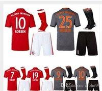 Wholesale 16 Mens Munich Soccer Jersey Thailand LEWANDOWSKI MULLER ROBBEN BOATENG ALABA VIDAL COATA Soccer Uniforms shirts Thai quality