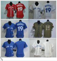 Wholesale New Flexbase Toronto Blue Jays Embroidery Logo Women s Sports Baseball Cheap Jersey Jose Bautista Throwback size S to XXL