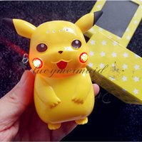 Wholesale With LED Light Pikachu Power Bank mAh Portable Charger Poke Cartoon Cute LED USB Phone Battery Mobile Chargers L337 M